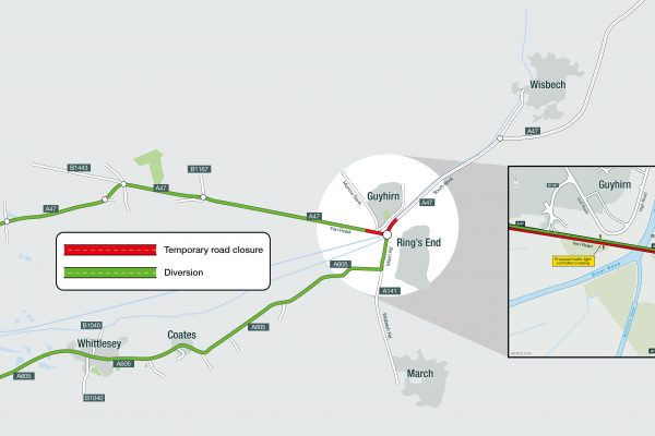 A47 Guyhirn Roundabout - Route 1