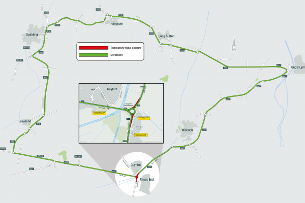 A47 Guyhirn Roundabout - Route 2